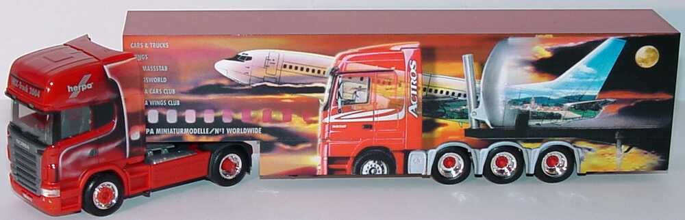 Foto 1:87 Scania R 580 Topline Fv Cv KoSzg Cv 2/3 HCC-Truck 2004 herpa 196482