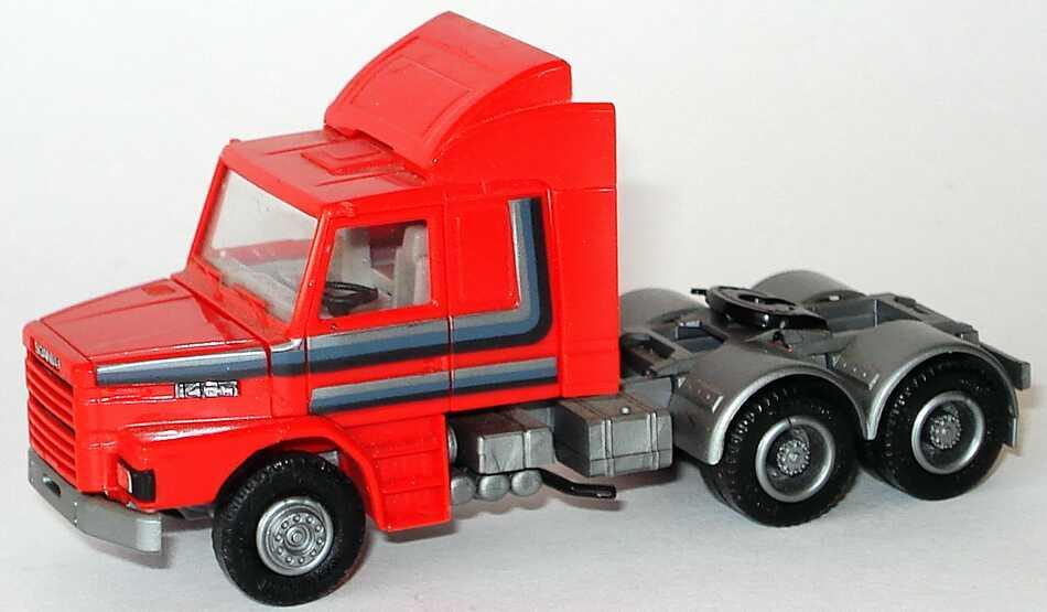 Foto 1:87 Scania T142 Fv 3a Szgm gelb mit Streifendekor herpa 844001