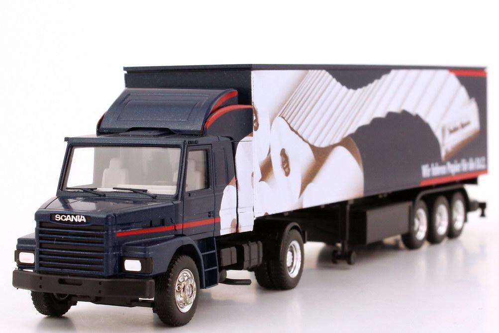 Foto 1:87 Scania T142 Fv KoSzg 2/3 Wir fahren Papier für die F.A.Z. herpa 844005