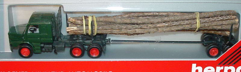 Foto 1:87 Scania T142 Holztransporter 3/2 dunkelgrün/schwarz herpa 836004