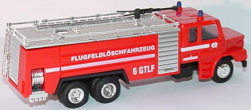 Foto 1:87 Scania T142 Rosenbauer Flugfeldlöschfahrzeug 6 GTLF rot Praliné 3609