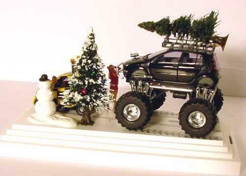 Foto 1:87 Smart Christmas 2004 Follow me to x-mas 2004 (Monster Smart Forfour + Smart Fortwo Follow me in Diorama) Werbemodell Busch 0020803V000C59Q00