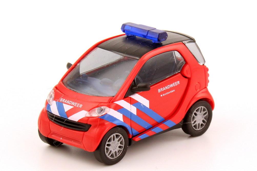 Foto 1:87 Smart City-Coupé C450 Brandweer Amsterdam Feuerwehr Holland - Busch 48911