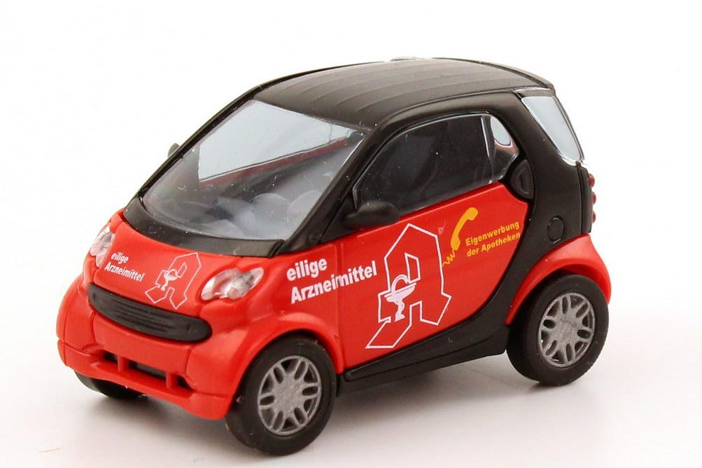 Foto 1:87 Smart City Coupé Facelift Eilige Arzneimittel rot/schwarz Busch 48941