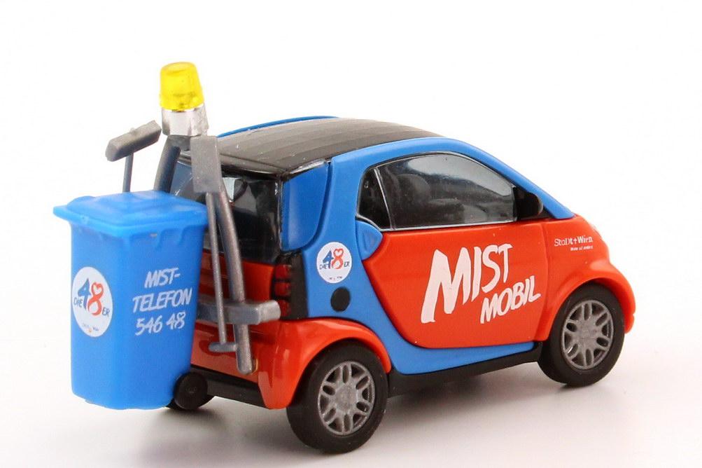 Foto 1:87 Smart City Coupé Facelift Mist Mobil, Stadt Wien Busch 48936