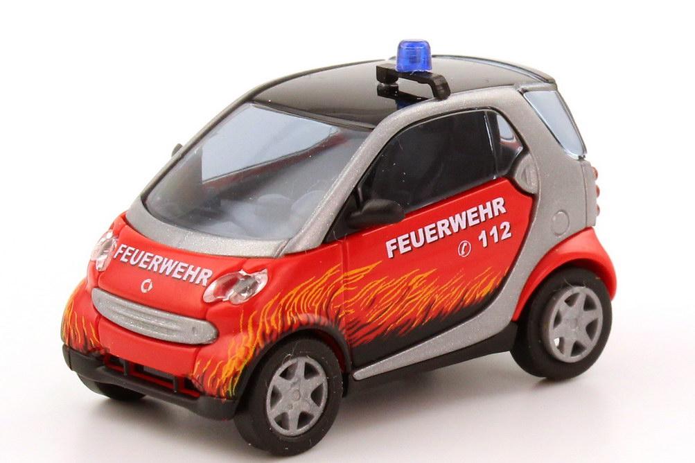Foto 1:87 Smart City-Coupé Feuerwehr, Design Flammen Busch 48938