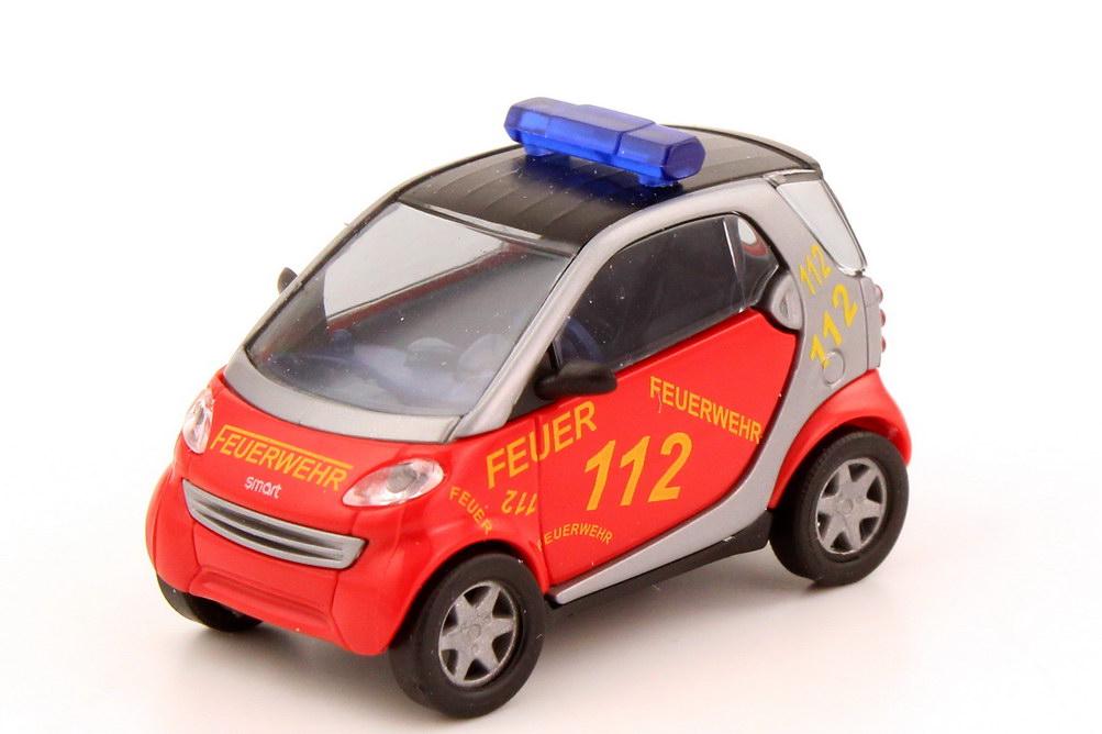 Foto 1:87 Smart City-Coupé Feuerwehr Hamburg Busch 48908
