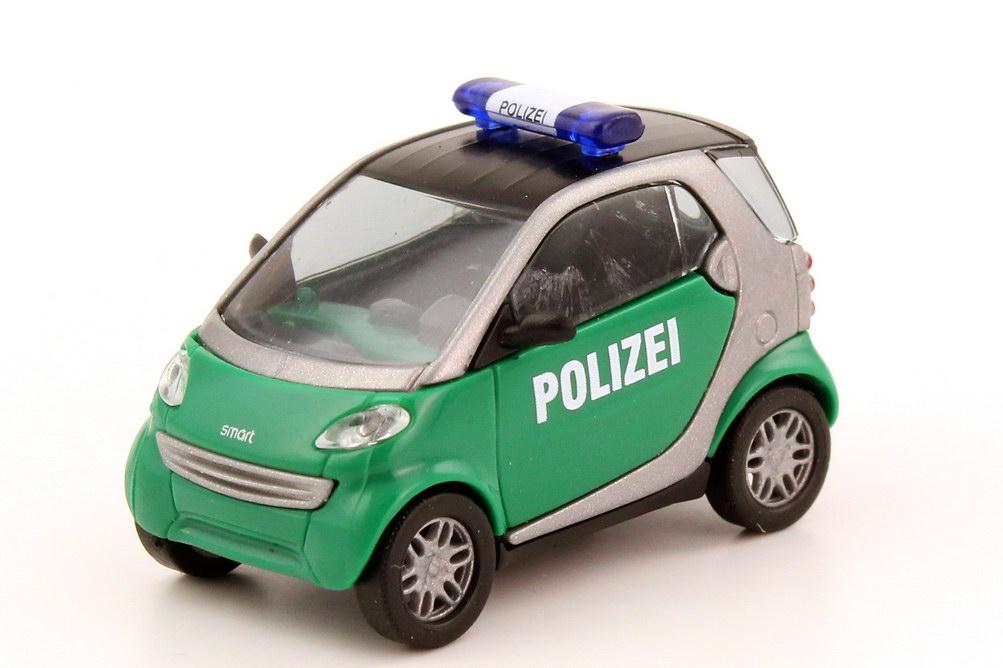 Foto 1:87 Smart City-Coupé Polizei grün/silber Busch 48919