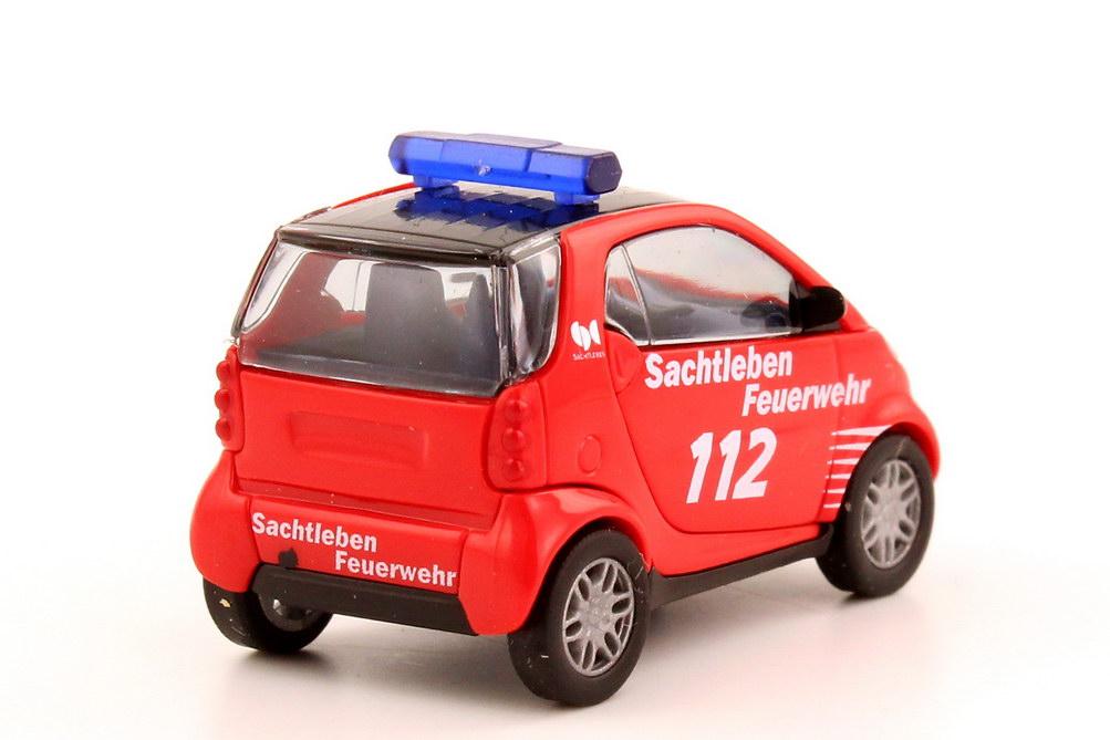 Foto 1:87 Smart City-Coupé Werksfeuerwehr Sachtleben Chemie, Duisburg Busch 48905