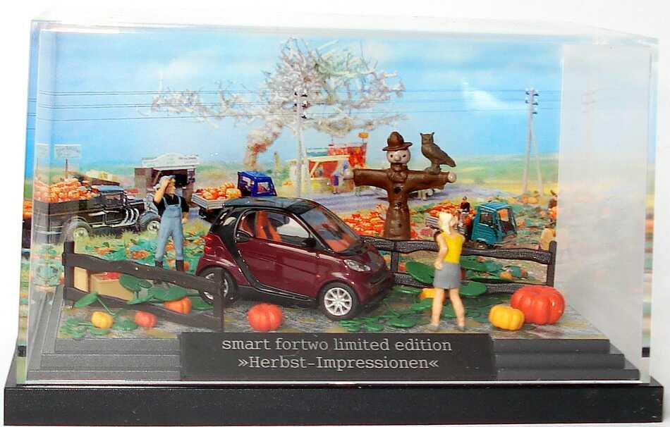 Foto 1:87 Smart Fortwo II Cabrio Herbstdiorama Herbst-Impressionen Werbemodell Busch B66961394
