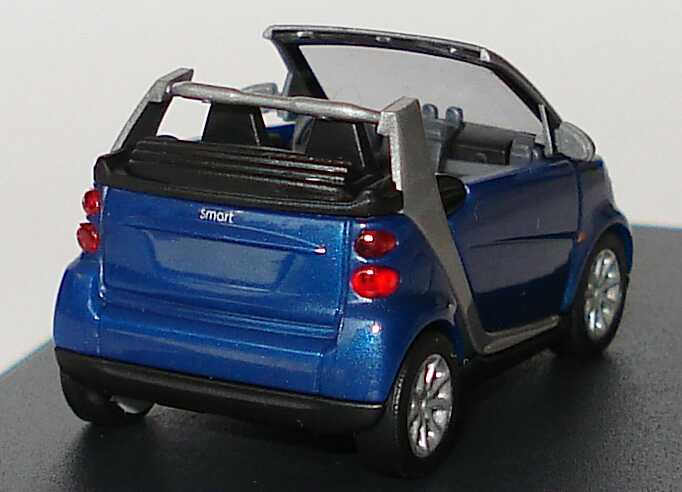 Foto 1:87 Smart Fortwo II Cabrio blau-met. Werbemodell Busch Q0022556V001C80Q00