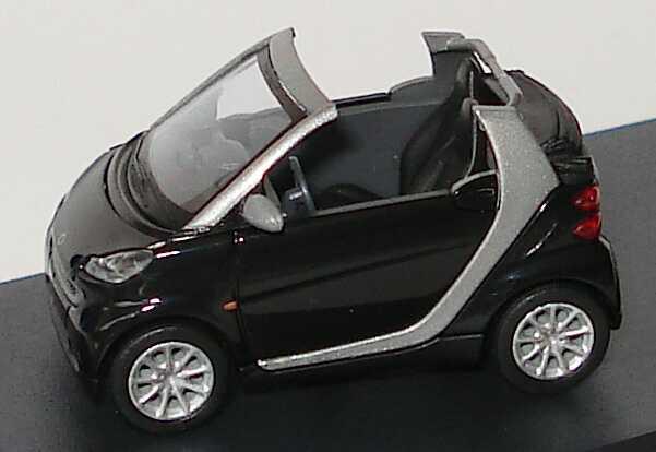 Foto 1:87 Smart Fortwo II Cabrio deepblack Werbemodell Busch Q0022555V001C18Q00