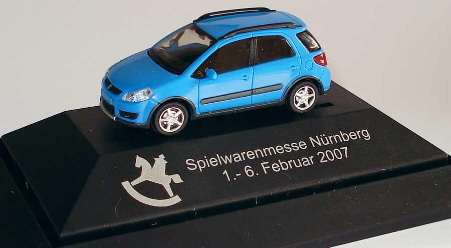 Foto 1:87 Suzuki SX4 blau Spielwarenmesse 2007 Rietze