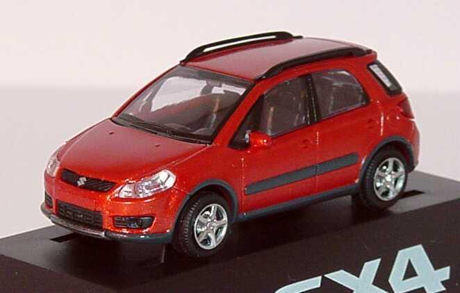 Foto 1:87 Suzuki SX4 rot-met. Werbemodell Rietze 990E0-79J45-000