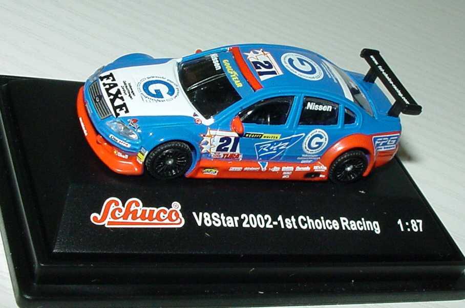 Foto 1:87 V8 Star 2002 VW Passat 1st Choice Racing, Ritz Nr.21, Nissen Schuco 21620