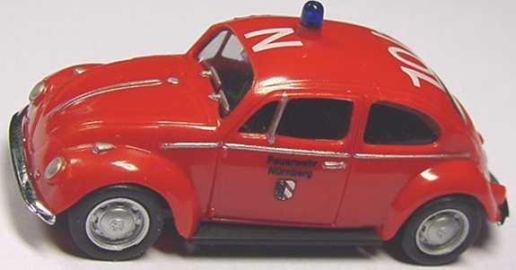 Foto 1:87 VW 1200 Feuerwehr Nürnberg N 10/1 herpa 044165