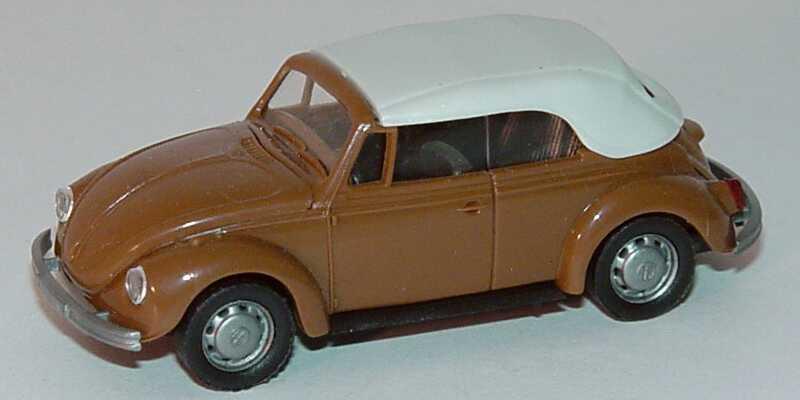 Foto 1:87 VW 1302 Cabrio braun geschlossen AMW/AWM