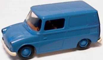 Foto 1:87 VW 147 Kasten blau Brekina 25900