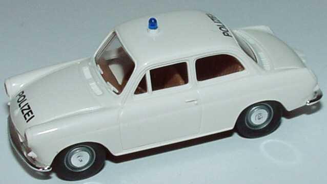 Foto 1:87 VW 1500 Limousine Polizei weiß Brekina 26101