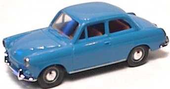 Foto 1:87 VW 1500 2türig blau Brekina 26002