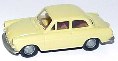 Foto 1:87 VW 1500 2türig facelift gelbbeige Brekina 2601