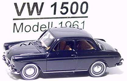 Foto 1:87 VW 1500 2türig schwarz Brekina 26003
