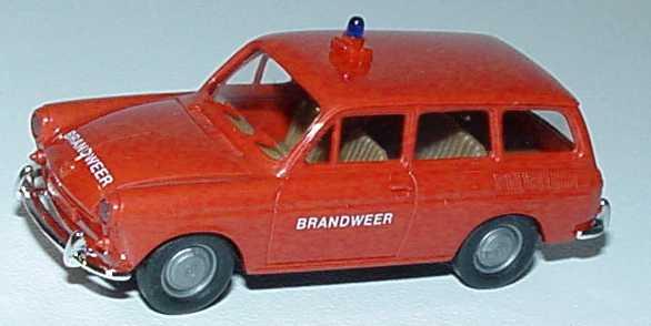 Foto 1:87 VW 1500 Variant Feuerwehr Brandweer Brekina 26504