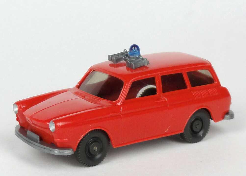 Foto 1:87 VW 1500 Variant Feuerwehr blaßrot Wiking 600