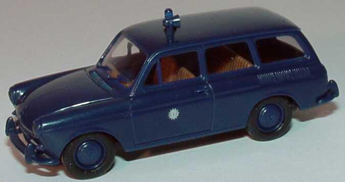Foto 1:87 VW 1500 Variant Polizei dunkelblau Brekina 26512