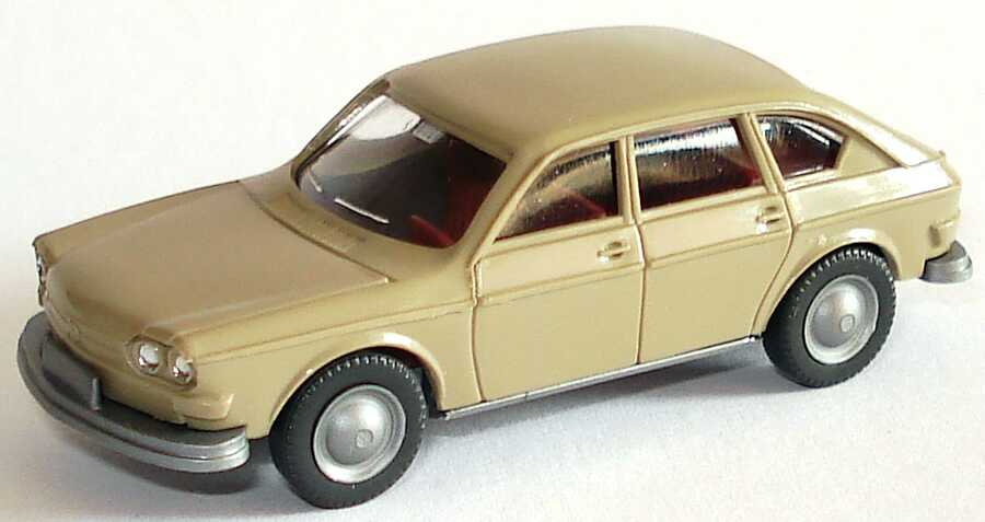 Foto 1:87 VW 411 beigegrau Wiking Märklin-Packung46123