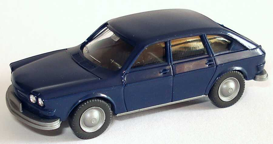 Foto 1:87 VW 411 dunkelblau Wiking Märklin-Packung46123