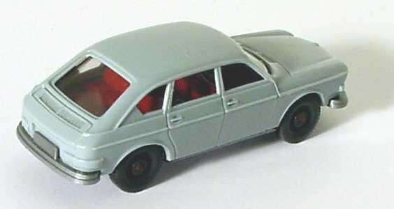 Foto 1:87 VW 411 hellgraublau (Doppelscheinwerfer, Emblem auf Haube) Wiking 046-2