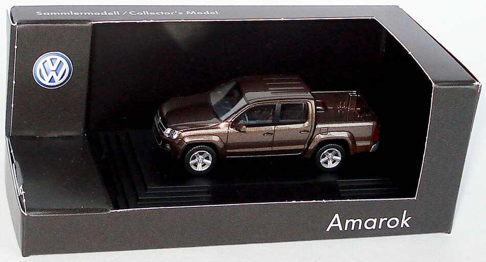 Foto 1:87 VW Amarok Pick Up mendozabraun-met. Werbemodell Wiking 2H70993016RF