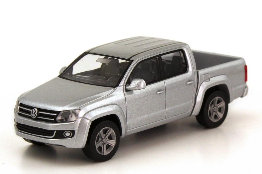 Foto 1:87 VW Amarok Pick Up silber-met. Wiking 031101