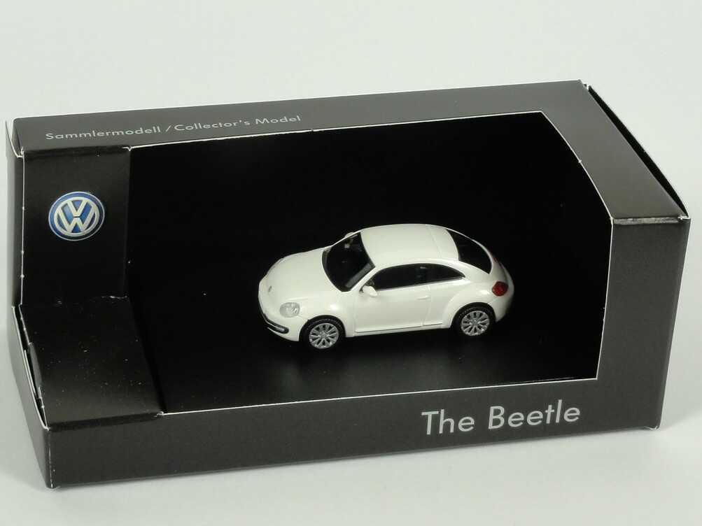 Foto 1:87 VW Beetle (2011) oryxweiß-perlmuteffect Werbemodell Wiking 5C10993010K1