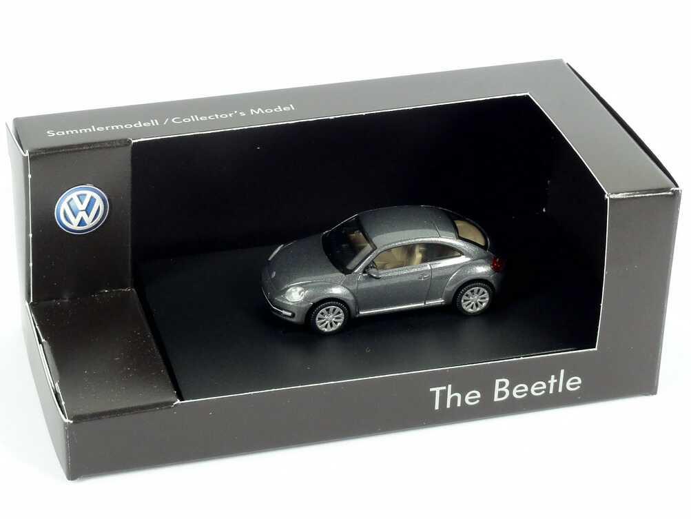 Foto 1:87 VW Beetle (2011) platinum-grey-met. Werbemodell Wiking 5C1099301B5K