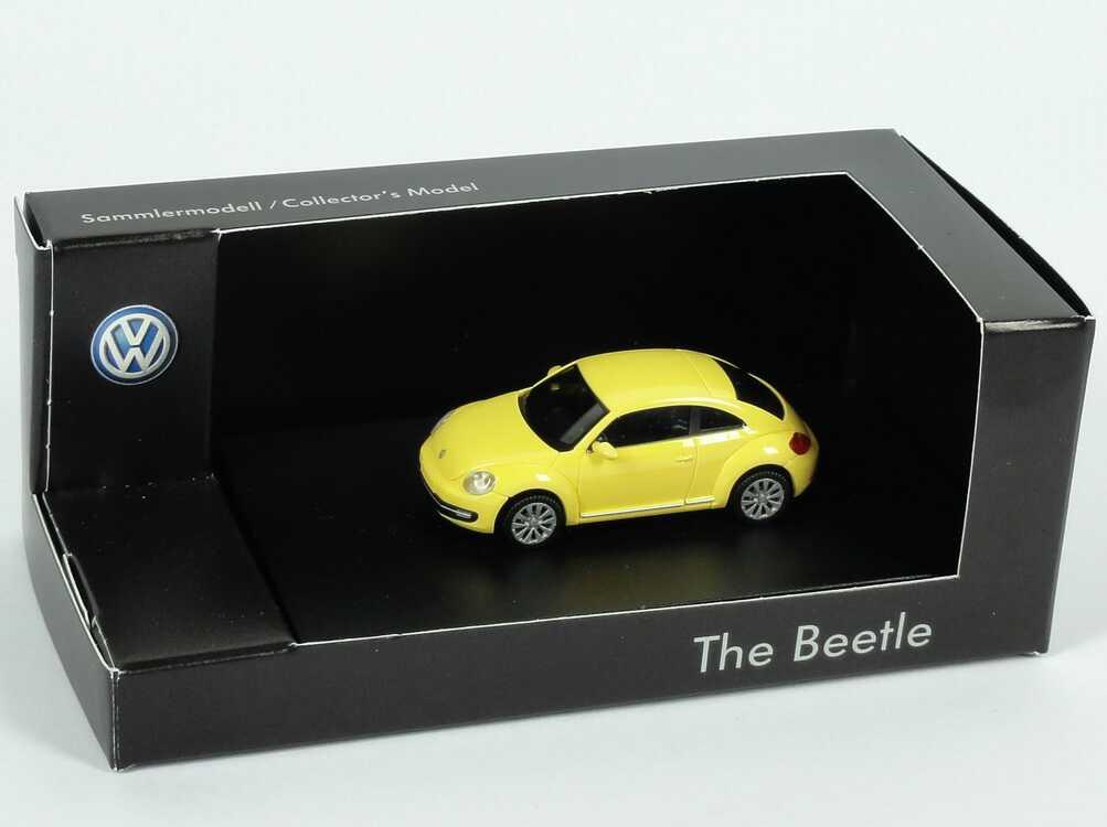 Foto 1:87 VW Beetle (2011) sunflower-gelb Werbemodell Wiking 5C1099301PXP