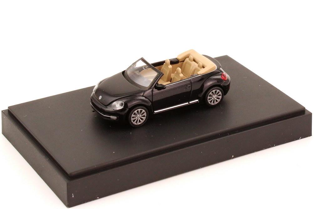 Foto 1:87 VW Beetle Cabrio (2013) deep-black-met. Werbemodell Wiking 5C309930154H