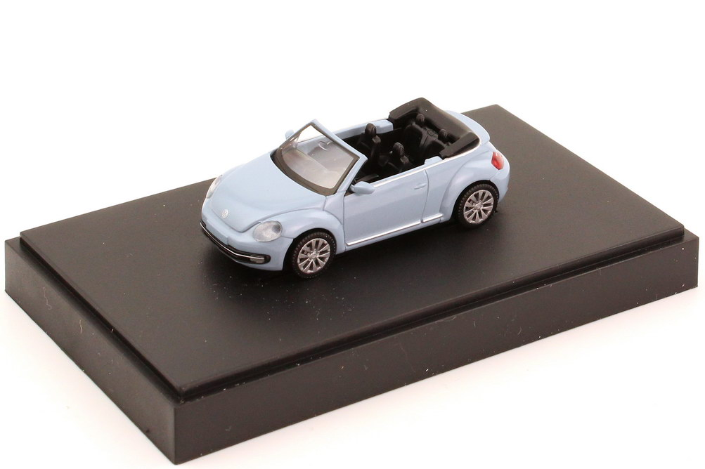 Foto 1:87 VW Beetle Cabrio (2013) denim-blue Werbemodell Wiking 5C3099301P5F
