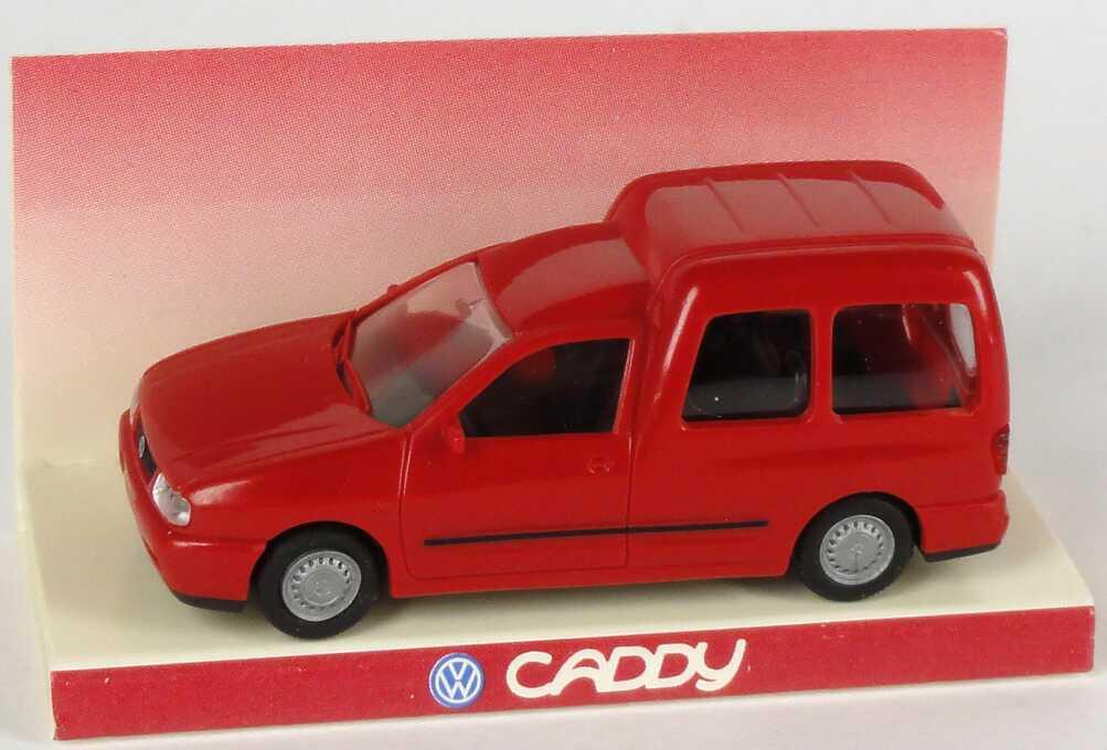 Foto 1:87 VW Caddy Combi rot Werbemodell Rietze 95100