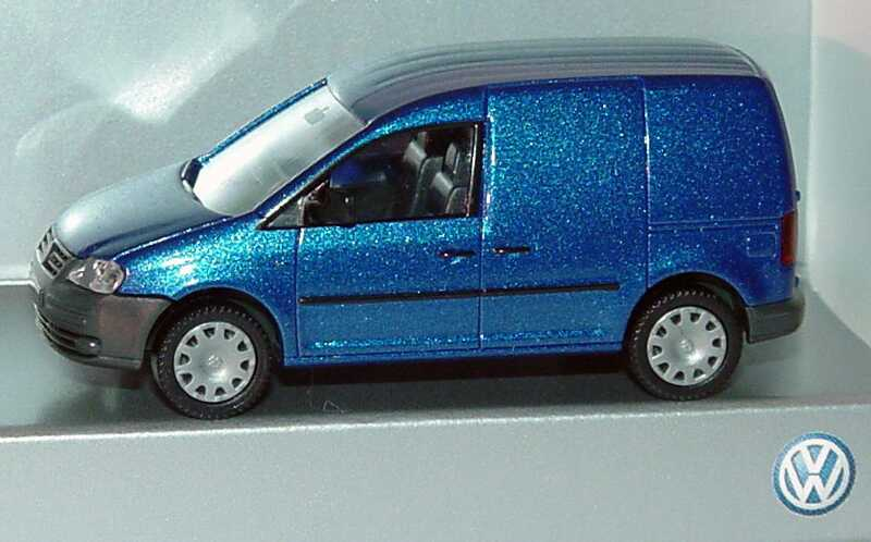 Foto 1:87 VW Caddy III Kasten blau-met. Werbemodell Wiking 2K0099301???
