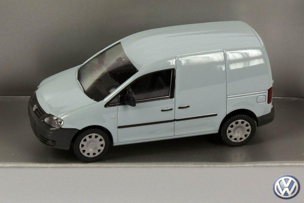 Foto 1:87 VW Caddy III Kasten hell-grau Werbemodell Wiking 2K0099301