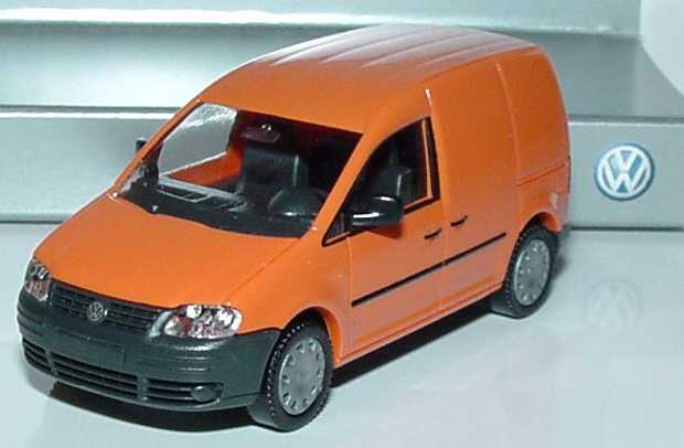 Foto 1:87 VW Caddy III Kasten leuchtorange Werbemodell Wiking 2K0099301P2C