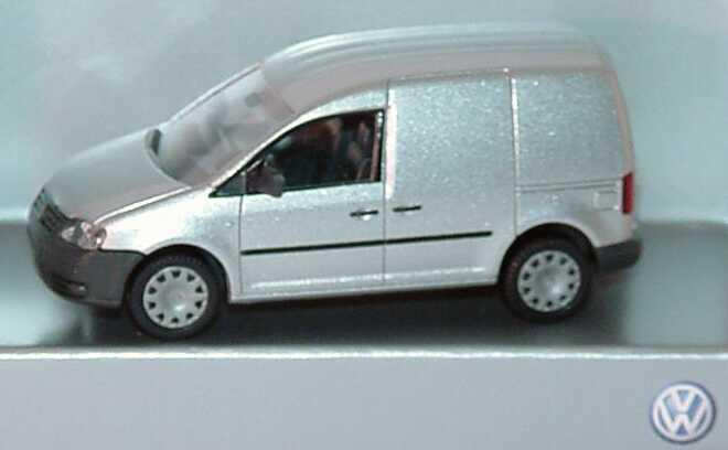 Foto 1:87 VW Caddy III Kasten silber-met. Werbemodell Wiking 2K0099301A7W