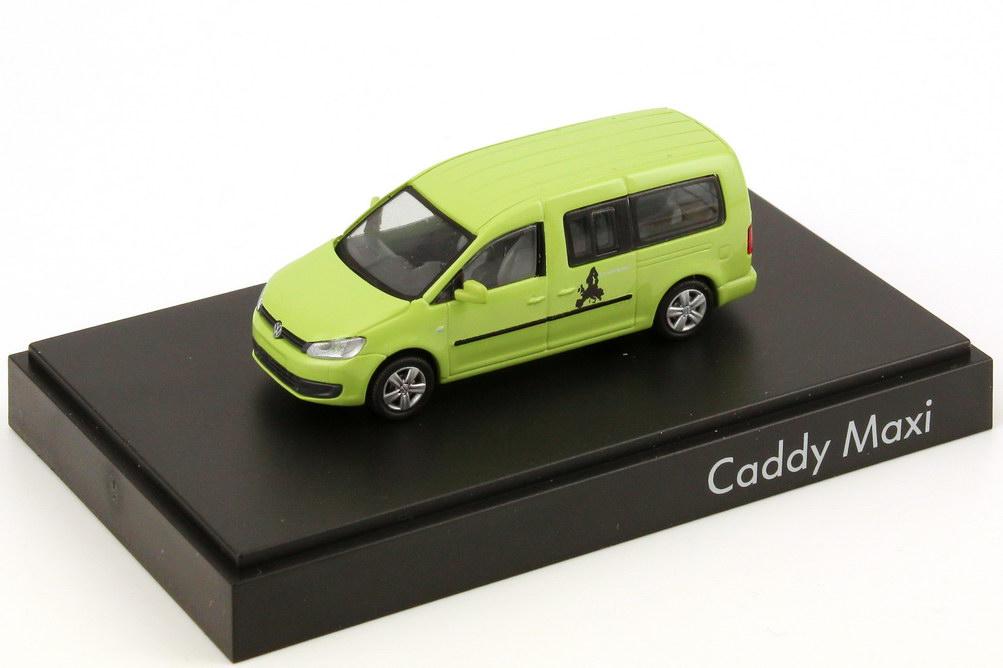 Foto 1:87 VW Caddy III Maxi Facelift 2010 Tramper primavera-grün Werbemodell Rietze 2K5099301J6E