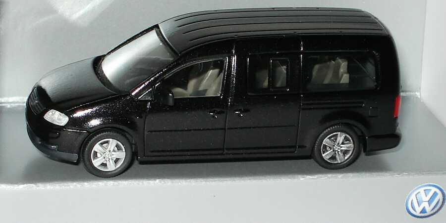 Foto 1:87 VW Caddy III Maxi Life (Typ 2K) blackmagic-perleffekt Werbemodell Rietze 2K3099301NPM