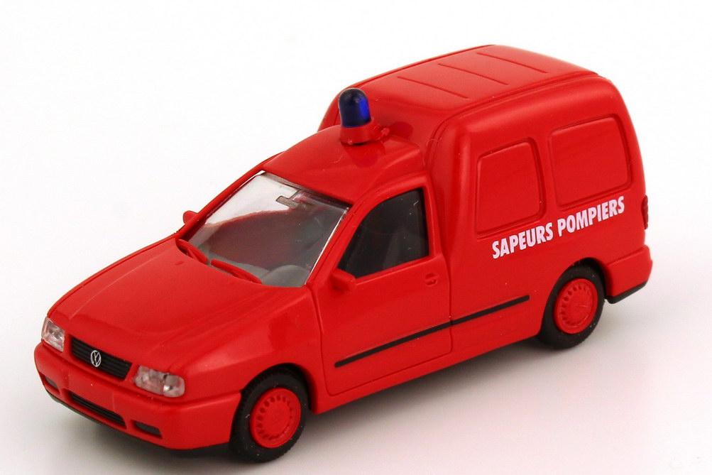 Foto 1:87 VW Caddy II Kasten Sapeurs Pompiers (Feuerwehr Frankreich) Rietze 50851