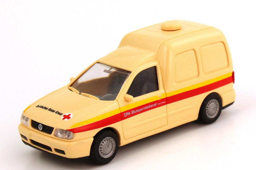 Foto 1:87 VW Caddy II Kasten (Typ 9KV) DRK Blutspendedienst Sachsen Rietze 30867