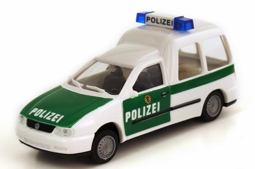 Foto 1:87 VW Caddy II Kombi (Typ 9KV) Polizei weiß/grün AMW/AWM 72128