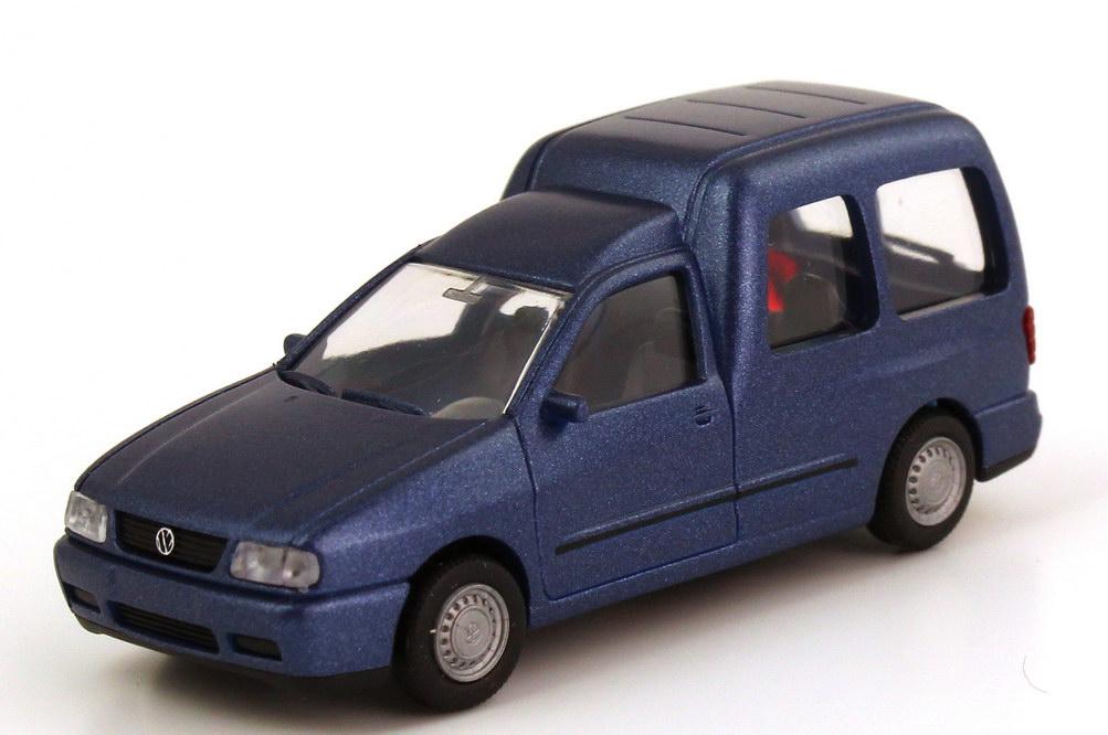 Foto 1:87 VW Caddy II Kombi (Typ 9KV) blau-met. Rietze 20840